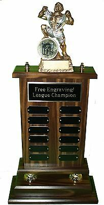 "Fantasy Football Trophy Huge 12 Year 24"" Monster- Free Engraving!Ships In 1 Day"
