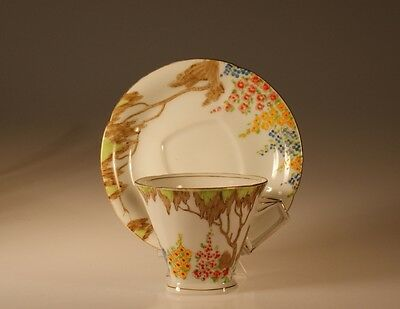 Art Deco Cup and Saucer, Made In Japan c. 1930