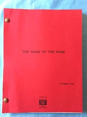 The Name Of The Rose *american Draft Script*