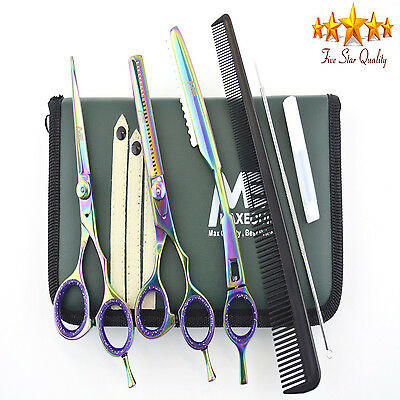 "Professional 5.5"" Hairdressing Scissors SET Barber Salon Shears KIT + TRIM RAZOR"