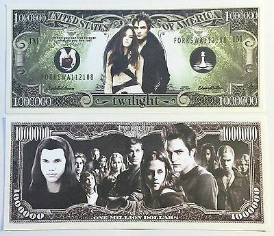 RARE: TWILIGHT $1,000,000 Novelty Note, TV Shows Buy 5 Get one FREE