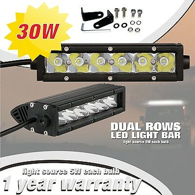 SLDX 30w 7'' Single Row Spot Off Road Cree Led Light Bar for Jeep SUV 12V  IP68