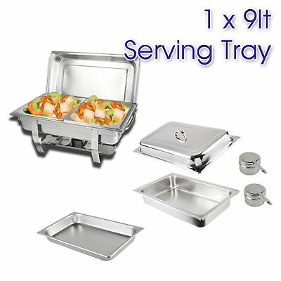 9L STAINLESS STEEL BAIN MARIE CHAFING DISH, Bow Stackable Buffet Food Warmer