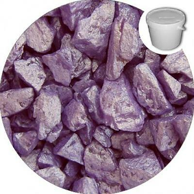 BULK BUY Lavender Silk Premium Silk Natural Crystal Decorative Chippings 20 Kilo