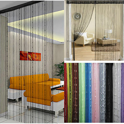 Window Door Tassel Drape Room Panel Fringe String Curtain Divider Chain Scarf