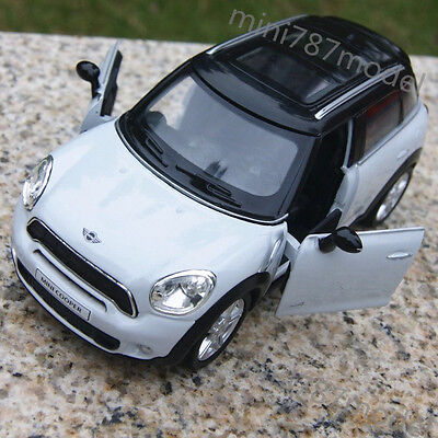 BMW Mini Cooper White 5 inch Model Cars Toys Collections&Gifts Alloy Diecast New