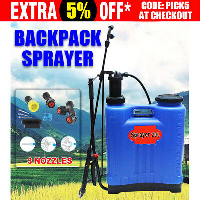 WACWAGNER 20L Pressure Backpack Garden Farm Pump Weed Killer Chemical Sprayer