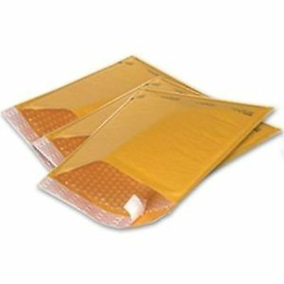 "50 #000 4x8 small kraft bubble mailer padded envelope *usable space 4""x 7"""