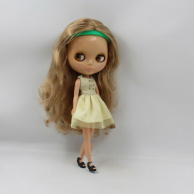 "Takara 12/"" Neo Blythe Doll Golden Curly Hair Nude Doll from Factory  JSW1006"