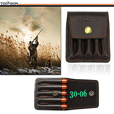 Tourbon Rifle Ammo Wallet Bullets Cartridges Pouch for Belt Hunting Real Leather