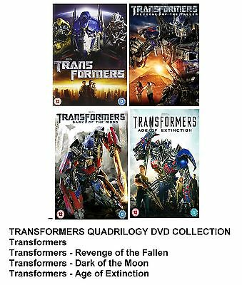 TRANSFORMERS COMPLETE MOVIE COLLECTION DVD ALL 4 FILM SET New UK Box