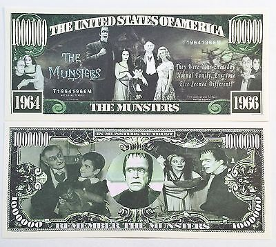 RARE: THE MUNSTERS $1,000,000 Novelty Note, TV Shows Buy 5 Get one FREE