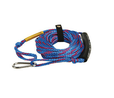 JOBE TOW ROPE WITH CARABINER 50ft FOR 1-2 PERSON TOWABLE TUBES ETC