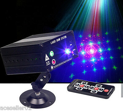 3 Output Lens 48 Gobos Laser Light Projector RGB Colorful Show Lazer Lighting