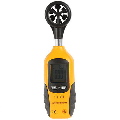 High Sensitive LCD Digital Wind Speed Anemometer and Thermometer w/ Vane Sensor