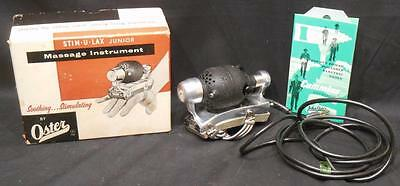Oster STIM-U-LAX Junior Standard Massage Instrument Model M-4 w/Box Massager