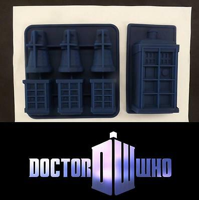 2x Molds Dr Who Tardis & Dalek Silicone Ice Tray Chocolate Moulds Muffin Cake