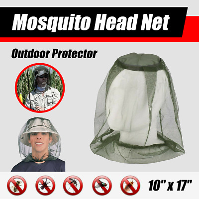 Fly Mosquito Insect Head Net Mesh Hat Bee Bug Mozzie Protector Outdoor Fishing