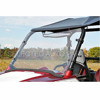 """1/5"""" thick Clear Windshield with hardware NON FOLDING for 09-13 POLARIS RZR UTV"""