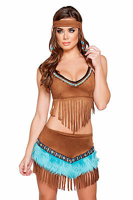 Indian costume Squaw Native Indian 3 sizes Mardi Gras Carnival Carnival