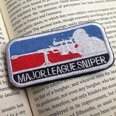 BLUE MAJOR LEAGUE SNIPER Patches U.S ARMY USA MILITARY MORALE PATCH BADGE