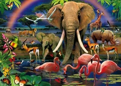 Puzzle 1000 Pezzi  Magic 3D African Savannah Clementoni 39187