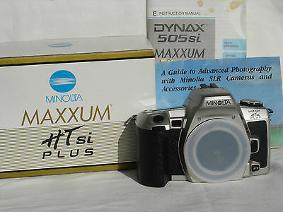 BOXED KONICA MINOLTA MAXXUM HTsi PLUS camera body with manual HT si plus