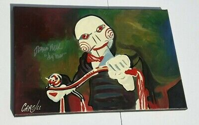 TOBIN BELL Saw Movies SIGNED Canvas Art 12x18 Cargill Painting PROOF