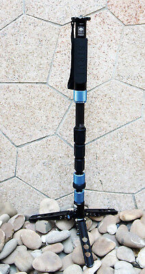 Sirui P-224SR Carbon Fiber Photo/Video Monopod w/ Three Stand Feet USA KY