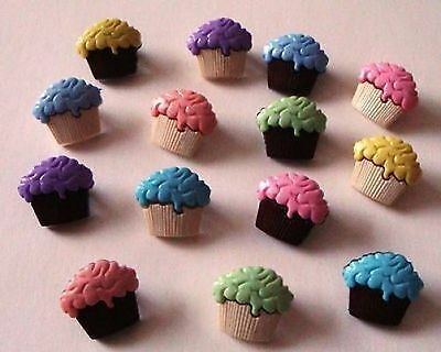CUPCAKE BUTTONS CRAFTIME Dress it Up NOVELTY CRAFT/SEWING  BUTTONS