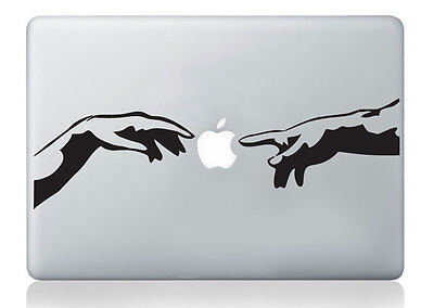 Michelangelo Adam hands mac sticker apple macbook laptop decal art vinyl art