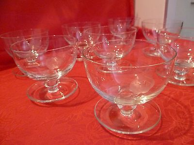 Exquisite Etched  Crystal Sweet / Dessert  Glasses Set Of 8