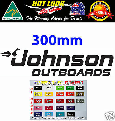 JOHNSON OUTBOARDS OUTBOARD MOTOR Vinyl Decal / Sticker Fishing SKI Boat