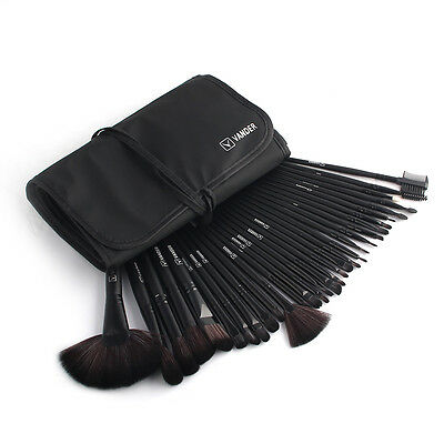 Hot 32tlg Professionelle Schwarz Makeup Brush  Kosmetik Pinsel Schminkpinsel Set