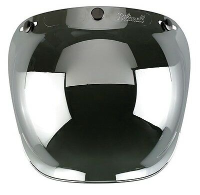 Visiere Bubble Biltwell Mirror Chrome Visor
