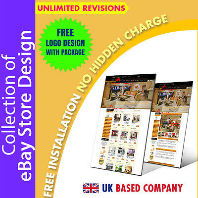 Appealing eBay Shop Store Template, eBay Listing Mobile Responsive Templates