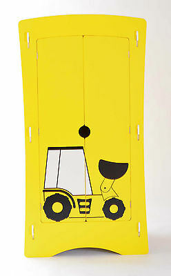 Children's 2 Door Digger Wardrobe in Yellow and Black