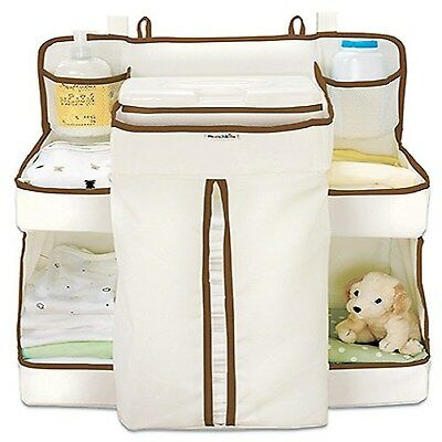 Nappy Dispenser Storage Organiser Hanging Bag Baby Cots Wipes Accessories Table