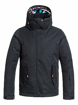 Roxy Jetty Solid Girls Tech Jacket in Anthracite - On Sale Now