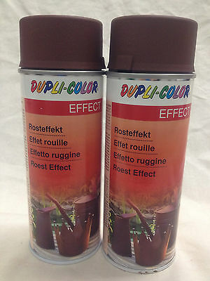 2x Motip Dupli Color Rosteffekt Lack Spray Ratlook Rost 400ml Metall Stein Holz
