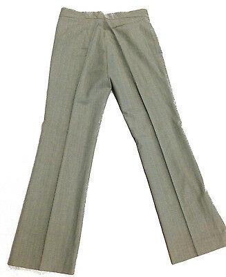 Trouser Grey Vintage 1970's Leisure Pant Clothing Golf Disco Peach Pinstripe