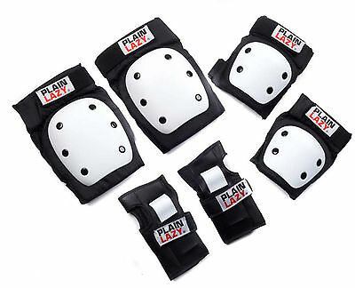Plain Lazy Pro Pad Set, Knee Elbow Pads, Wrist Guards Biking Skateboarding