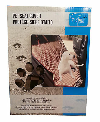 "Pet Dog Seat Car Auto Cover by Spaw Westex Waterproof 53""X45"" Backseat Universal"