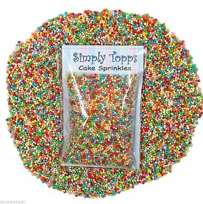 Vibrant 100s & 1000s Dragees 1mm 30g Cake Decoration Sprinkles Cupcake Pearls