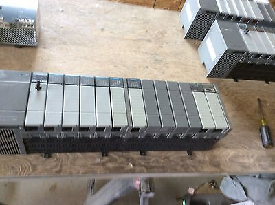 Allen-Bradley SLC 500 power supply w/13 slot rack, SLC 5/04CPU #1747-L541, SST