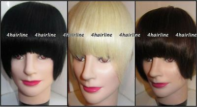 Remy Human Hair Extension Clip in Bangs Short Sides #1 #4 #60