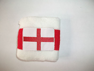 2 x England St George Cross Wristband Sweatband New