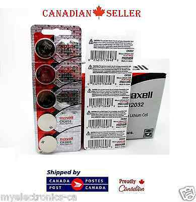 5 PC Genuine Maxell CR2032 DL2032 2032 3V Micro Lithium  SB-T51 Watch Battery
