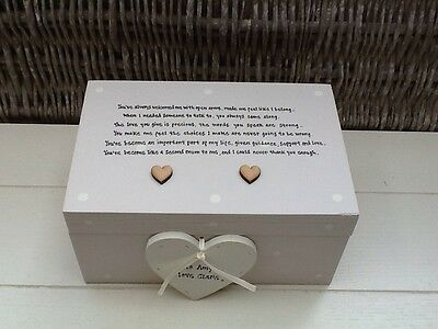 Shabby Personalised Chic Like A Mum To Me Or Step Mum EXTRA LARGE Gift Jewel Box