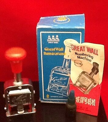 New Great Wall Numbering Machine Stamp Model 45